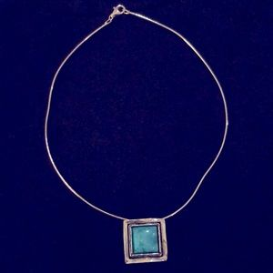 Silpada turquoise pendent and necklace